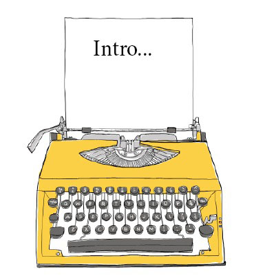 yellow typewriter 'intro'
