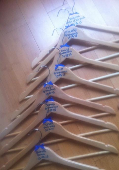 blue hangers too