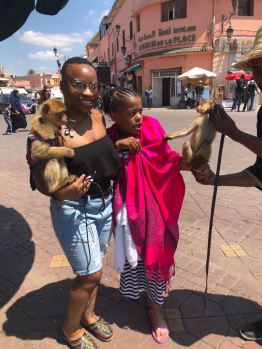 Kayla wasn't too sure about meeting the locals in the town square... LOLLL!!!